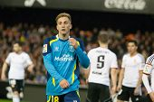 VALENCIA, SPAIN - JANUARY 25: Deulofeu during Spanish League match between Valencia CF and Sevilla FC at Mestalla Stadium on January 25, 2015 in Valencia, Spain