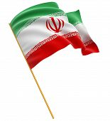 picture of iranian  - 3D Iranian flag with fabric surface texture - JPG
