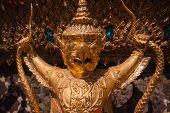 picture of garuda  - Garuda statues in the Royal Palace of Wat Phra Kaew in Bangkok Thailand - JPG