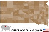 South Dakota County Map