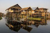 Inle Lake Floating Village, Shan State, Myanmar