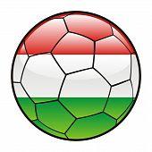 Hungary flag on soccer ball