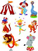 Cute cartoon set Circus themed