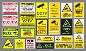 picture of cctv  - Vector pack of different CCTV  - JPG