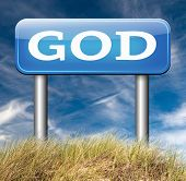 stock photo of godly  - God and salvation search road to heaven religion god belief and praise the lord