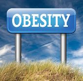 obesity and over weight diet road sign