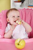 Cute Baby Eating Fruit