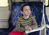 Child Travelling On Train