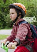 Child  Cyclling On Bike