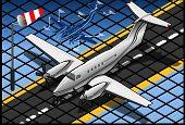 Isometric White Private Plane