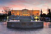 Syntagma square, Athens.