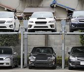 Double Story Parking In Japan