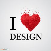 i love design heart sign.