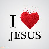 picture of jesus  - i love Jesus - JPG