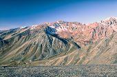 pic of arid  - Scenic arid mountainous landscape in Kyrgyzstan - JPG
