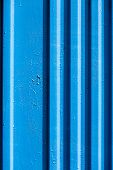 Blue Painted Iron Fence