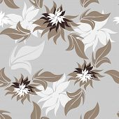 Seamless Floral Pattern Background - Illustration