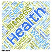 Vector concept or conceptual health, diet or sport text word cloud tagcloud isolated on white background