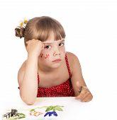 artist kid girl painting