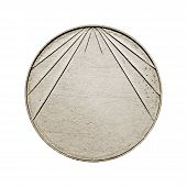 Blank silver coin with stripes