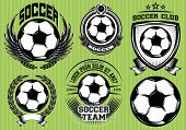 Set Of Soccer Football Badge Logo Design Templates