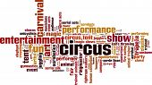 foto of contortion  - Circus Word Cloud Concept - JPG