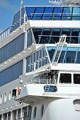 Cruise travel ship, detail
