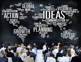 stock photo of seminar  - Global Business People Conference Seminar Ideas Concept - JPG