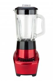 image of blender  - Red Electric Blender isolated on white with a clipping path - JPG