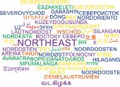 stock photo of northeast  - Background concept wordcloud multilanguage international many language illustration of northeast - JPG