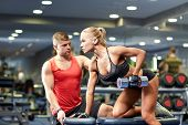 stock photo of personal trainer  - fitness - JPG