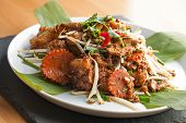 pic of turnips  - Thai style radish cakes dish with chicken - JPG