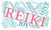 foto of reiki  - Reiki word cloud on a white background - JPG