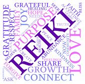 image of holistic  - Reiki word cloud on a white background - JPG