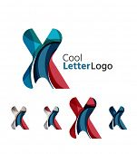 stock photo of letter x  - Set of abstract X letter company logos - JPG