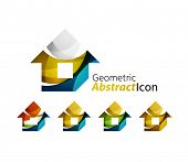 picture of universal sign  - Set of abstract geometric company logo home - JPG