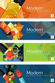 image of universal sign  - Collection of flat web infographic concepts and banners - JPG
