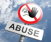 stock photo of pedophile  - stop child abuse or misuse of power and domestic violence prevention warning sign