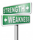 stock photo of strength  - strength versus weakness overcome problems by being strong and not weak accept the challenge to success - JPG