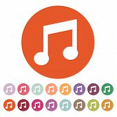 picture of musical symbol  - The music disk icon - JPG
