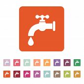 picture of tapping  - The tap water icon - JPG
