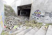 stock photo of underpass  - Abandoned underpass under a main street in a Sofia - JPG