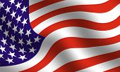 image of american flags  - detail of waving american flag - JPG