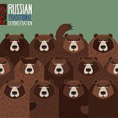 stock photo of striking  - Russian national demonstration - JPG