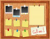 Corkboard With Stickers And