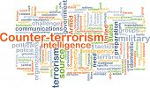 image of terrorism  - Background concept wordcloud illustration of counter - JPG
