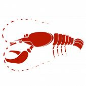 stock photo of craw  - Red Lobster Isolated on White Background - JPG
