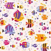 picture of sea fish  - fish sea marine life seamless pattern design - JPG
