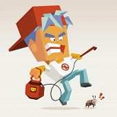 stock photo of pest control  - pest control with fogging killer - JPG