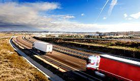stock photo of trucks  - International forwarding - JPG